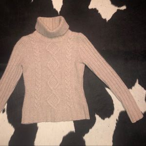 Angora and wool blend turtleneck sweater
